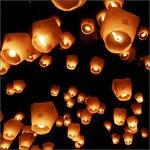 Накануне Нового года жители Ижевска запустят «небесные фонарики»