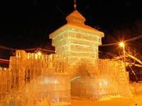 Ледовый городок в Ижевске частично разрушен за новогодние праздники
