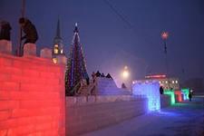 В Воткинске ледовый городок будет радовать горожан до конца января